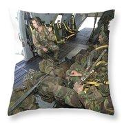 Members Of The Pathfinder Platoon Throw Pillow