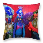 Mermaid Parade 2011 Coney Island Throw Pillow