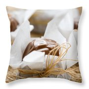 Milk Chocolate Throw Pillow