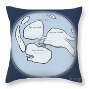 Moon Map By William Gilbert, 1603 Throw Pillow
