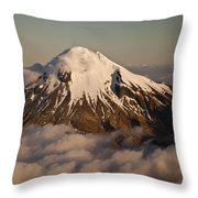 Mount Taranaki Above The Clouds New Throw Pillow