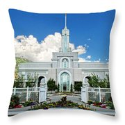 Mt Timpanogas Temple Throw Pillow