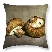 2 Mushrooms Throw Pillow