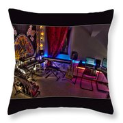 Music Studio Throw Pillow