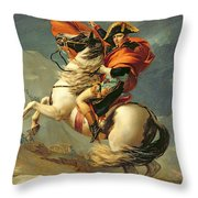 Napoleon Crossing The Alps On 20th May 1800 Throw Pillow