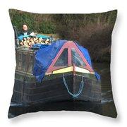 Narrowboat Throw Pillow