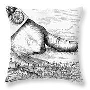 Nast: Tweed Ring Cartoon Throw Pillow by Granger