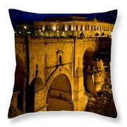 New Bridge In Ronda Throw Pillow