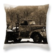 New Mexico Winter Throw Pillow