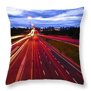 Night Traffic Throw Pillow