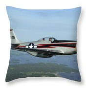 North American P-51 Cavalier Mustang Throw Pillow