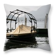 Old Fishing Boat Throw Pillow