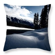 Open Water In Winter Throw Pillow