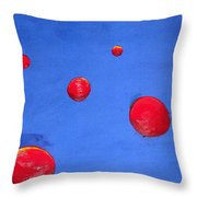Orbs In Space 1 -- Crossing Paths Throw Pillow