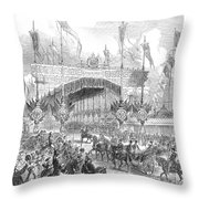 Paris Exposition, 1855 Throw Pillow