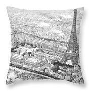 Paris Exposition, 1889 Throw Pillow