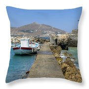 Paros - Cyclades - Greece Throw Pillow