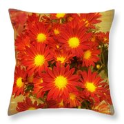 Patterned Petels Throw Pillow