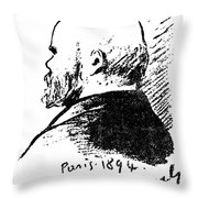 Paul Verlaine (1844-1896) Throw Pillow
