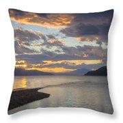 Pend Oreille Sunset Throw Pillow