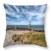 Penmon Point Throw Pillow