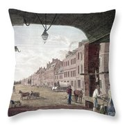 Philadelphia: High Street Throw Pillow