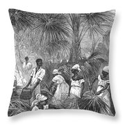 Phonograph, 19th Century Throw Pillow