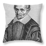 Pierre Gassendi, French Polymath Throw Pillow