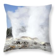 Pohutu And Prince Of Wales Feathers Throw Pillow