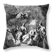 Pope: Rape Of The Lock Throw Pillow