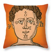 Position Of The Planets In The Human Throw Pillow