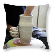 Pottery Wheel, Sequence Throw Pillow