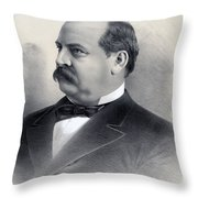 President Grover Cleveland Throw Pillow by International  Images