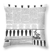 Presidential Campaign, 1828 Throw Pillow