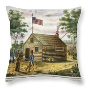 Presidential Campaign, 1840 Throw Pillow