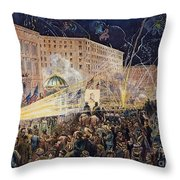 Presidential Campaign: 1876 Throw Pillow