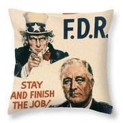 Presidential Campaign, 1940 Throw Pillow