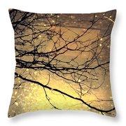 Puddle Art Throw Pillow
