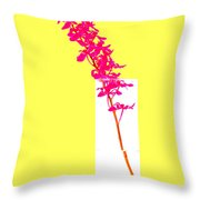 Purple Orchid Bunch Throw Pillow