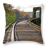 Railway Track Throw Pillow