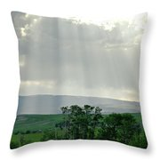 Rain Sun Rays Throw Pillow
