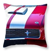 Red 1966 Ford Mustang Shelby Throw Pillow