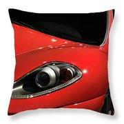 Red Ferrari F430 Scuderia Throw Pillow