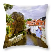 Red Roofs Of Prague Throw Pillow