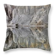 Reflection On Blue Lake, St Bathans Throw Pillow