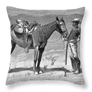 Remington: 10th Cavalry Throw Pillow by Granger