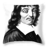 Ren� Descartes, French Polymath Throw Pillow