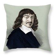 Rene Descartes, French Polymath Throw Pillow