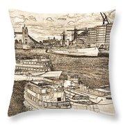 River Thames Art Throw Pillow