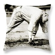 Rogers Hornsby (1896-1963) Throw Pillow